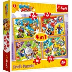 PUZZLE 4 W 1 SUPER ZINGS BOHATEROWIE SERII 4 34343