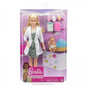 Barbie Pediatra z bobasem GVK03