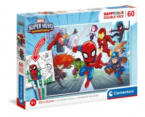 Puzzle 60el Dwustronne Super Hero Marvel 26098