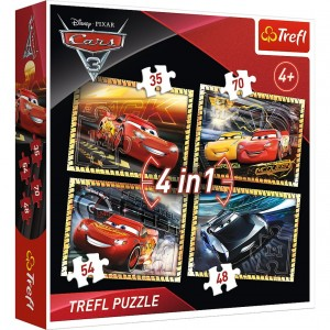 PUZZLE 4W1 CARS 3 34276