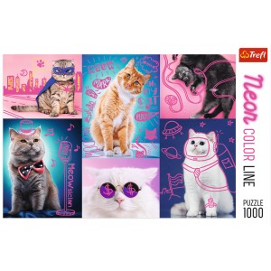 PUZZLE 1000 NEON COLOR SUPER KOTY 10581