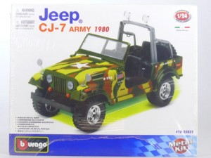 Jeep CJ-7 Army (Kit) w skali 1:24 - Bburago 25031