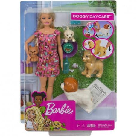 Barbie Opiekunka Piesków Lalka Zestaw Fxh08