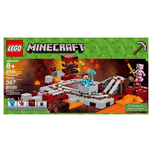 bf9cc2105 LEGO MINECRAFT Linia kolejowa w Netherze - 21130